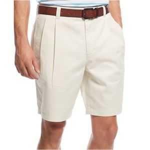 Club Room Double Pleated Casual Chino Shorts
